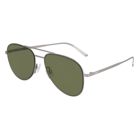 Puma // Double Blade Sunglasses // Ruthium + Green