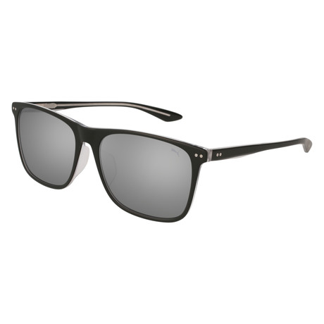 Puma // Rivet V3 Sunglasses // Black + Silver Mirror