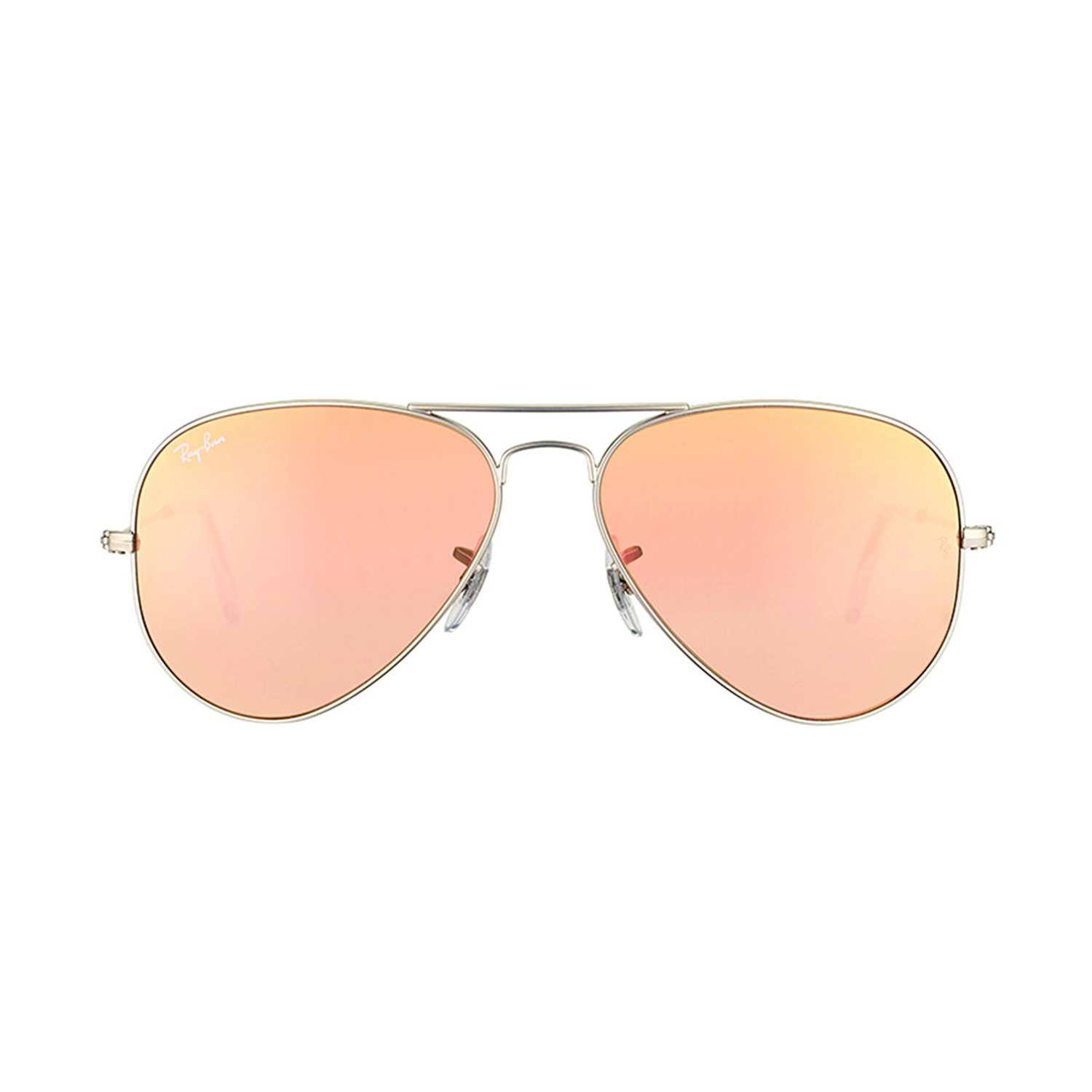 8fa7daac76 Large Metal Aviator    Matte Silver + Brown Mirror Pink (58mm) - Ray Ban® -  Touch of Modern
