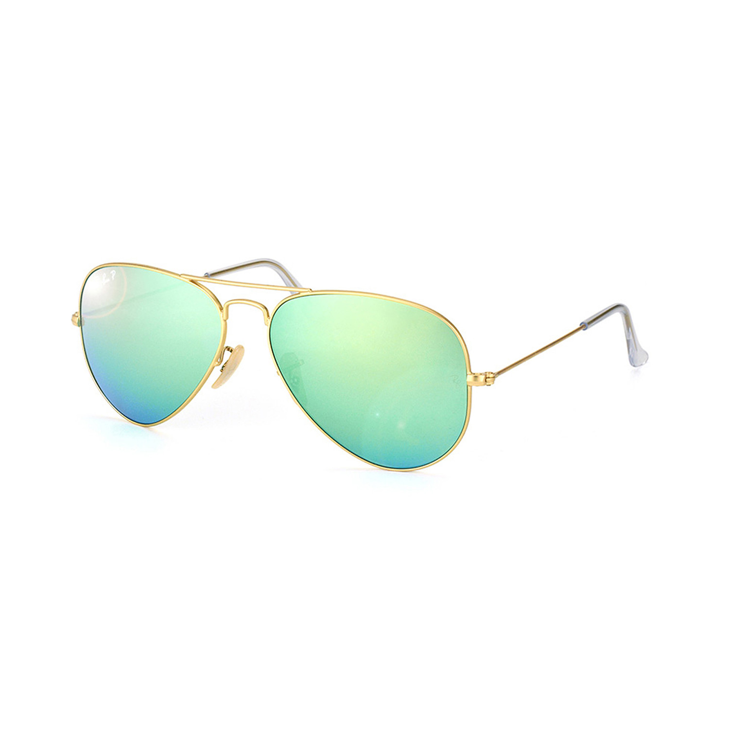 1a8762a191b 3ce890ba7e9feee8bda9d8e17ec20b73 medium · Ray-Ban    Large Metal Aviator    Matte  Gold + Green Mirror