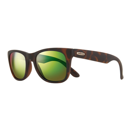 Cooper Modified Square Sunglasses // Matte Tortoise + Green Water