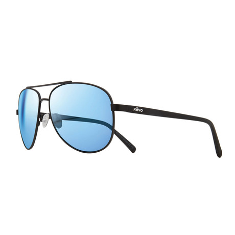 Shaw Sunglasses // Black + Blue Water