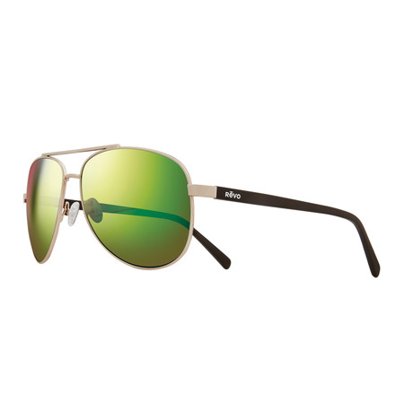 Shaw Sunglasses // Shiny Gold + Green Water