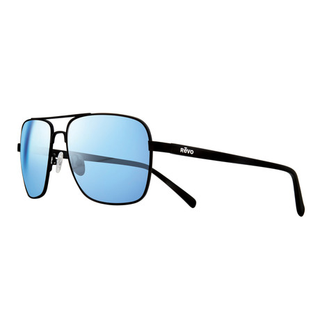 Peak Sunglasses // Black + Blue Water