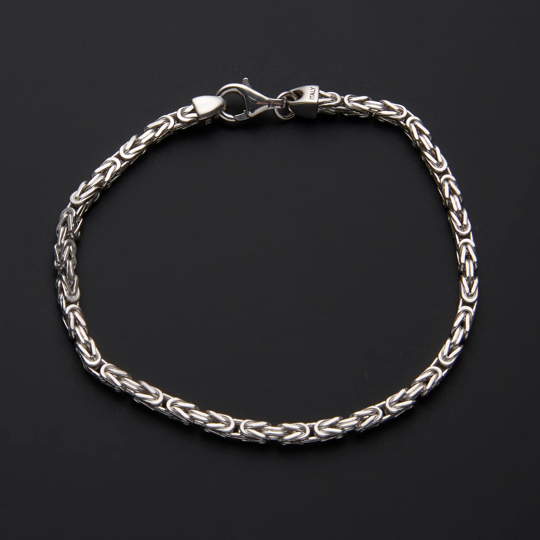 Square Byzantine Chain Bracelet // 3mm // 8 5