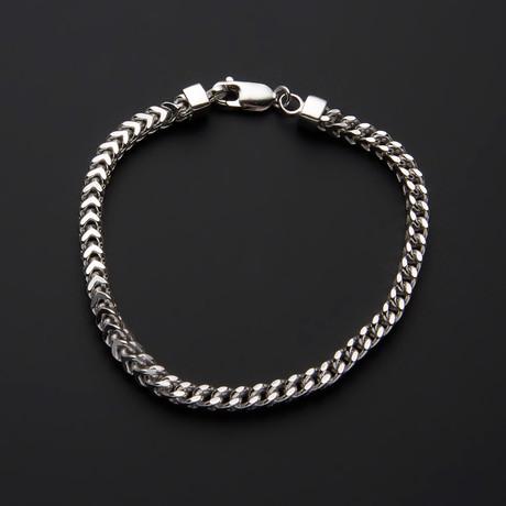 """Hollow Franco Chain Bracelet // 4.5 mm // 8.5""""L"""