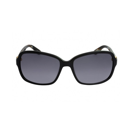 Ferragamo // Square Sunglasses // Black + Gray
