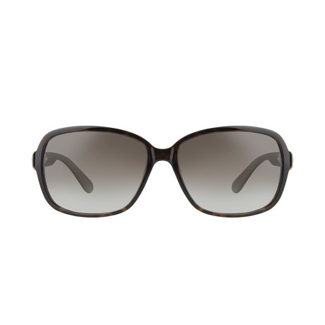 Ferragamo // Square Sunglasses // Dark Tortoise + Brown Gradient