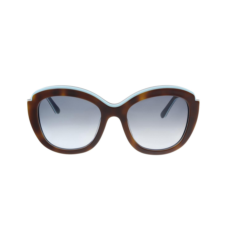 658bb6b7624 9d415d3be250d1a2441e8cf52e9e0a46 medium · Ferragamo    Cat Eye Sunglasses     Havana + Blue + Brown Gradient