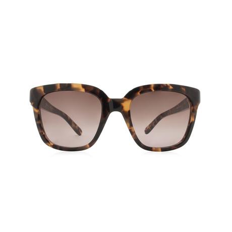 Ferragamo // Women's Modified Squared Sunglasses // Havana + Gray Gradient