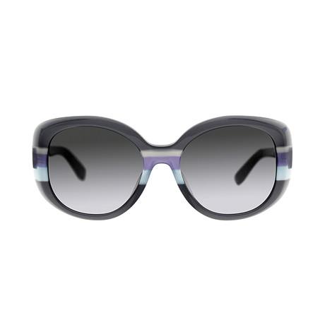 Ferragamo // Women's Classic Sunglasses // Gray + Azure + Gray Gradient