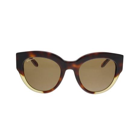 Ferragamo // Women's SF855S Sunglasses // Tortoise + Turtle + Brown