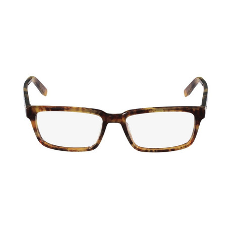 Salvatore Ferragamo // Rectangle Eyeglasses // Marble Brown