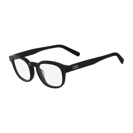 Salvatore Ferragamo // Oval Eyeglasses // Black