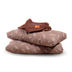 Convertible Pillow Pod Footstool // Cowhide (Black)