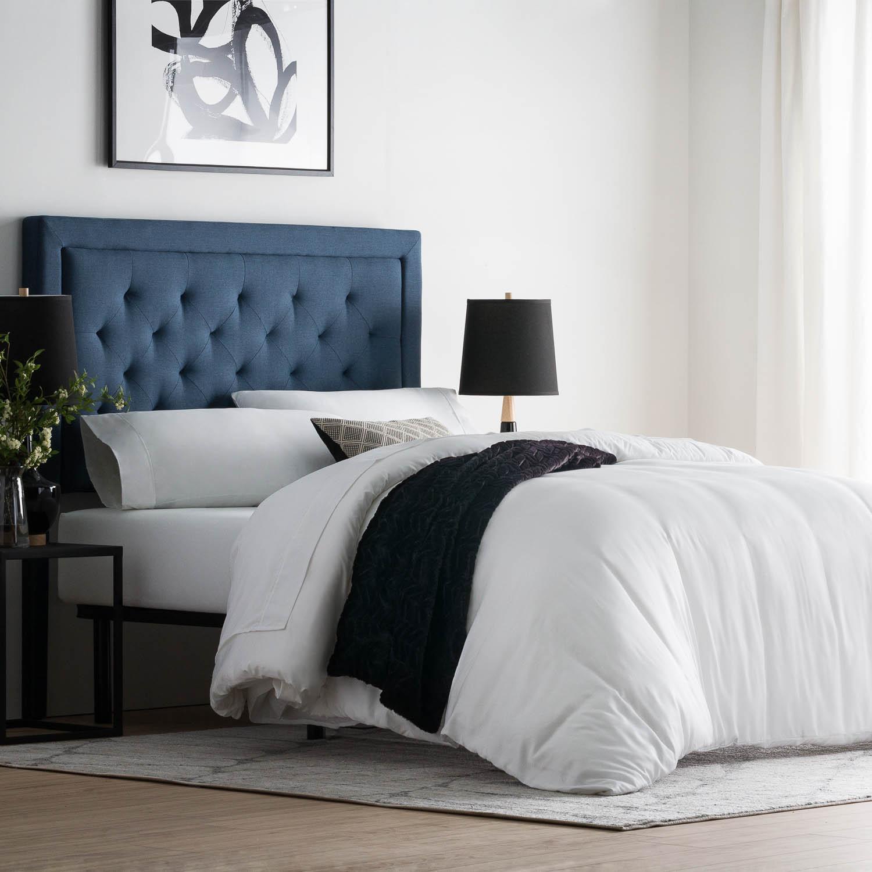 rectangle diamond tufted upholstered headboard atlantic. Black Bedroom Furniture Sets. Home Design Ideas
