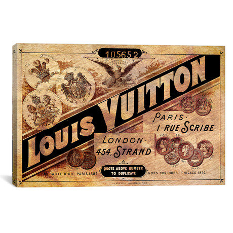 "Vintage Louis Vuitton Advertisement by 5by5collective (26""W x 18""H x 0.75""D)"