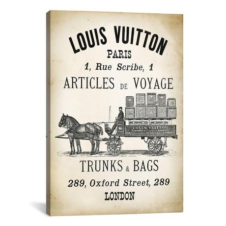 "LV Trunks & Bags // PatentPrintStore (12""W x 18""H x 0.75""D)"