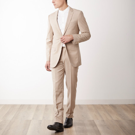 Slim Fit Suit // Beige (US: 36S)