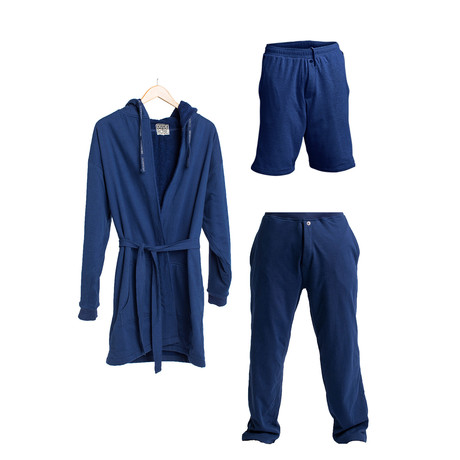 Robe + Pants + Shorts // Navy (S/M)