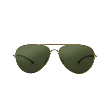 Smith // Audible Aviator // Semi Matte Gold + Polarized Green