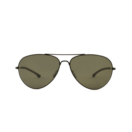 Smith // Audible Aviator // Matte Black + Polarized Green