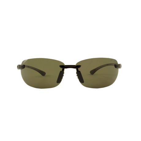 Smith // Sport Polarized Sunglasses // Black + Green