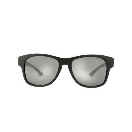 Smith // Square Sunglasses // Matte Black + Polarized Gray Mirror