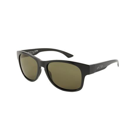 Smith // Men's Chromapop Polarchromic Square Polarized Sunglasses // Black + Green