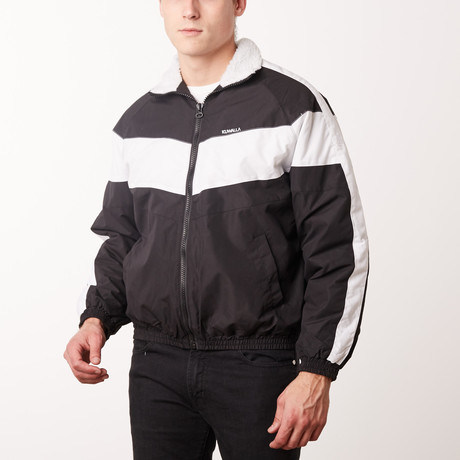 Winter Track Jacket // Black + White (M)