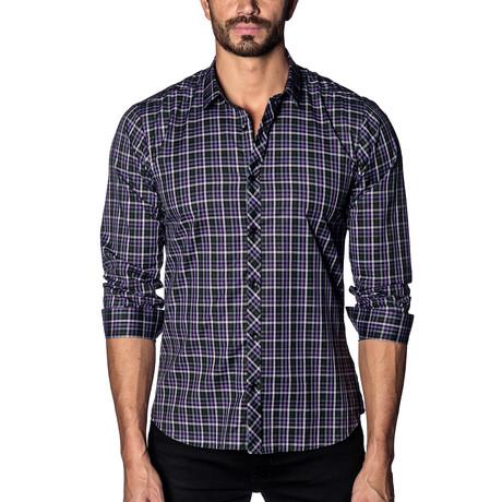 Long Sleeve Shirt // Purple + Black Multi Check (S)