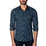Long Sleeve Shirt // Navy Multicolor People Print (XL)