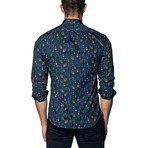 Long Sleeve Shirt // Navy Multicolor People Print (L)