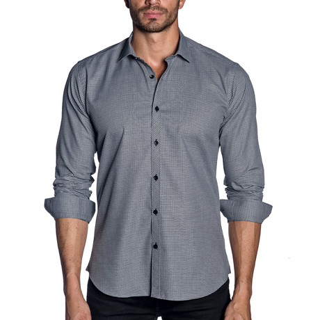 Woven Button-Up // Black Micro Check (S)