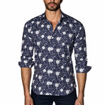 Long Sleeve Shirt // Navy Clocks (XL)