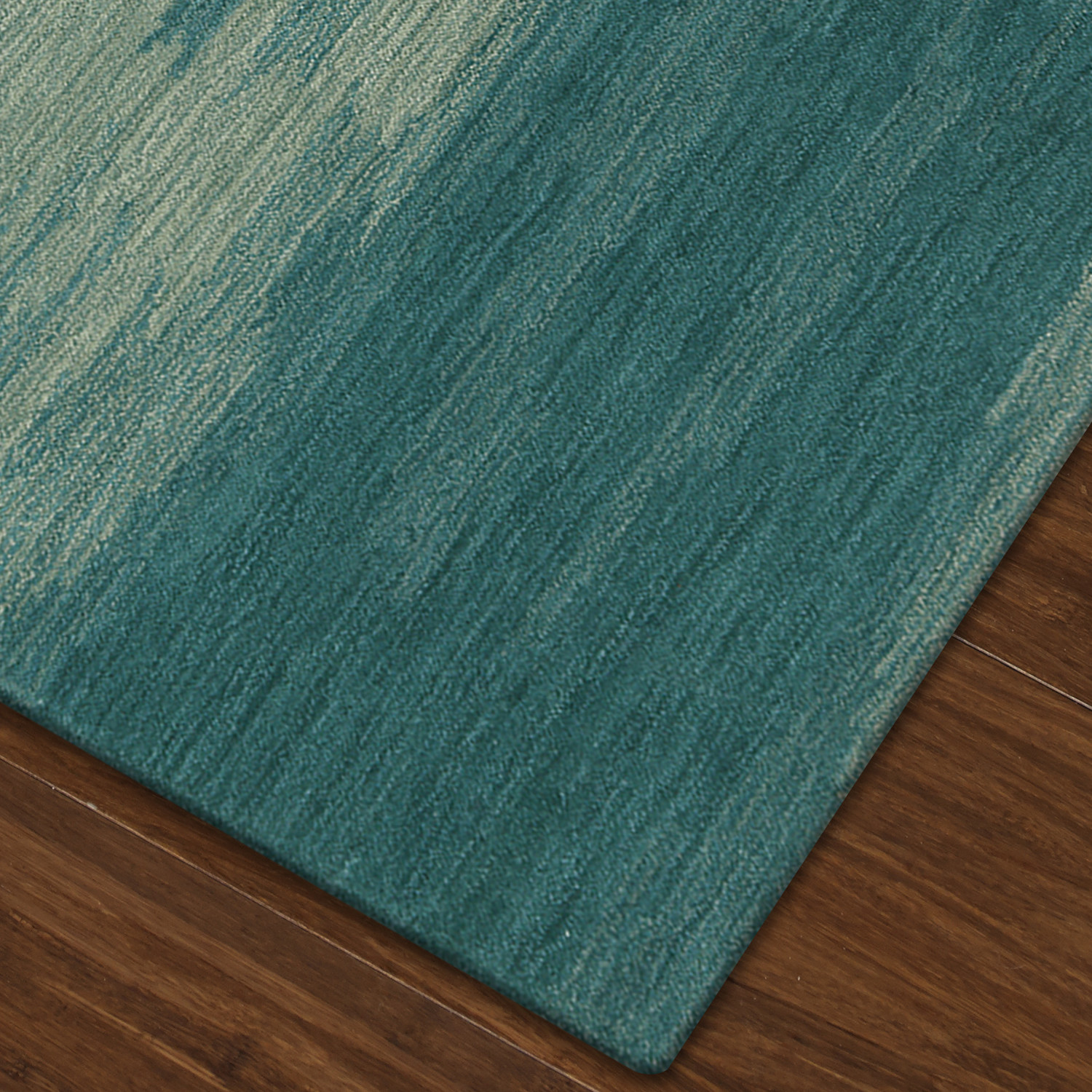 Elyria Abstract Stripes Shades Of Turquoise Area Rug