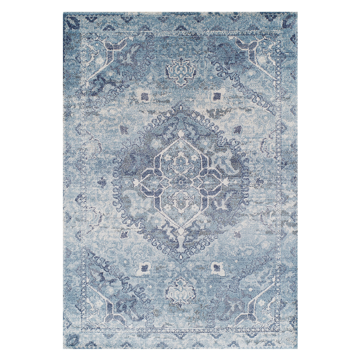 Persian Rugs Wellington: Wellington // Antique Medallion // Blue + Ivory Area Rug
