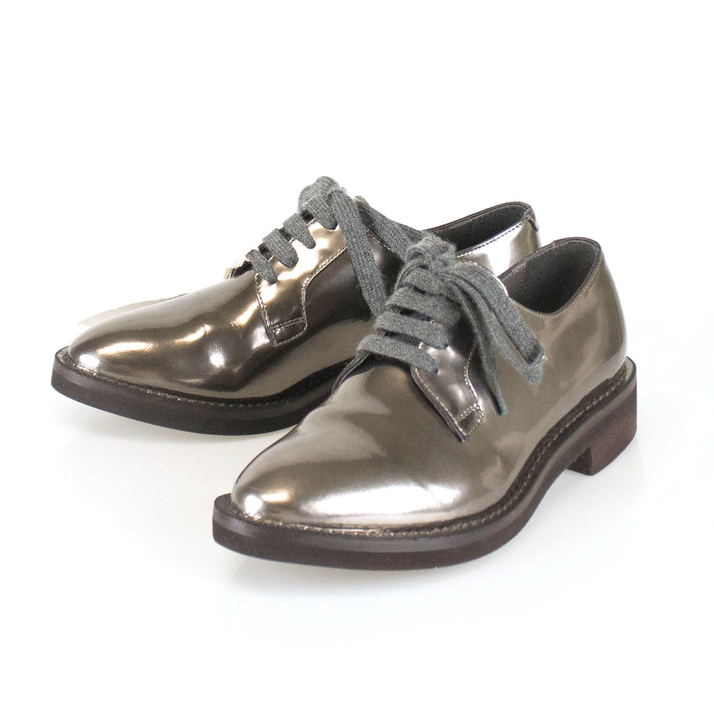 Womens Patent Leather Oxfords Brown Euro 35 Brunello