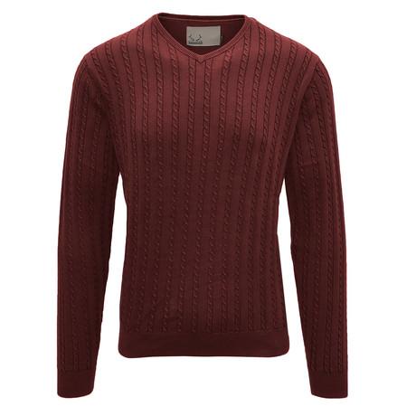McDowell V-Neck Sweater // Terracotta (S)