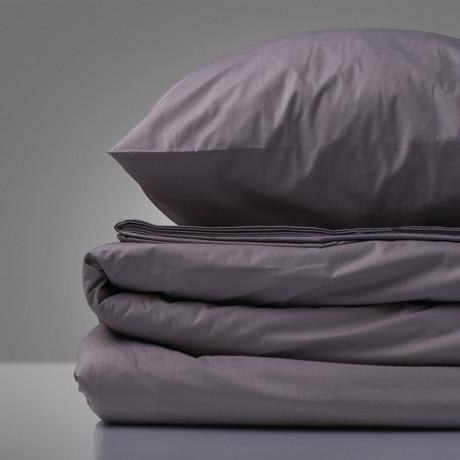 Cotton Percale Bedding Set (Lavender)