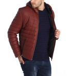 Berkley Leather Jacket // Bordeaux (S)