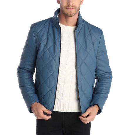 Market Leather Jacket // Blue (S)