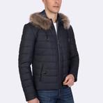 Landon Leather Jacket // Navy (2XL)