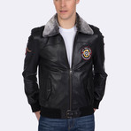 Cullen Leather Jacket // Black (L)