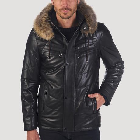Sansome Leather Jacket // Black (S)