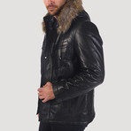 Sansome Leather Jacket // Black (M)