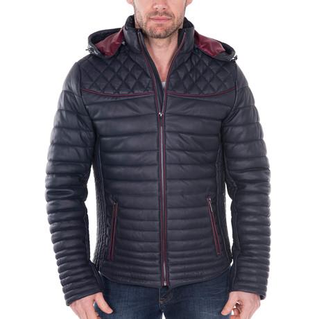 Lankershim Leather Jacket // Navy (XS)