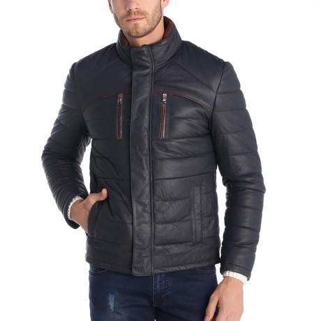 Clayton Leather Jacket // Navy (S)