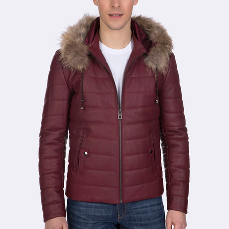 Atticus Leather Jacket // Bordeaux (XS)