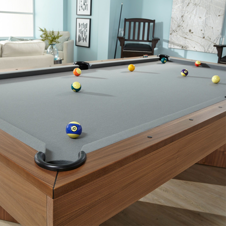 Infinity 8 Pool Table 1 Certified Slate Steel Grey Felt